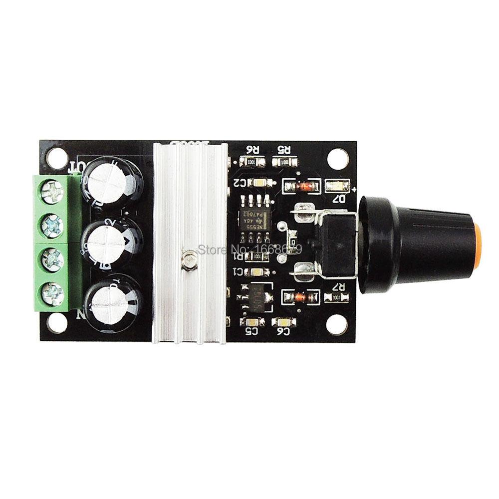Dc 6v 12v 24v 28vdc 3a 80w Pwm Motor Speed Controller