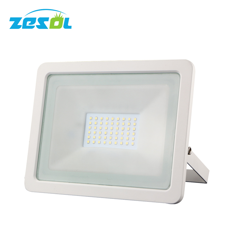 ZESOL 50w eclairage exterieur flood light led projecteur 220V 230V  outdoor  lamp reflector waterproof IP65 garden lights ultrathin led flood light 200w ac85 265v waterproof ip65 floodlight spotlight outdoor lighting free shipping