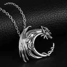 Power Game Necklace Ice and Fire Song Personality Vintage Tangle August Dragon Pendant