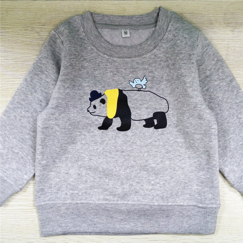 hot sales cute panda print 0-2 years O-neck sweatshirt boys and girls clothes for autumn and winter