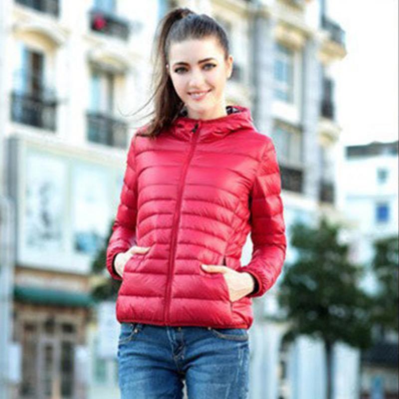 92fc97a03 2018 Slim Lady Winter Parkas Casual Style Women Winter Zipper Hooded ...