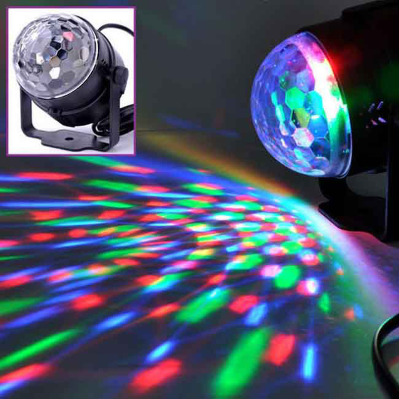 Mini RGB LED Crystal Magic Ball Stage Effect Lighting Lamp Bulb Party - Կոմերցիոն լուսավորություն - Լուսանկար 4