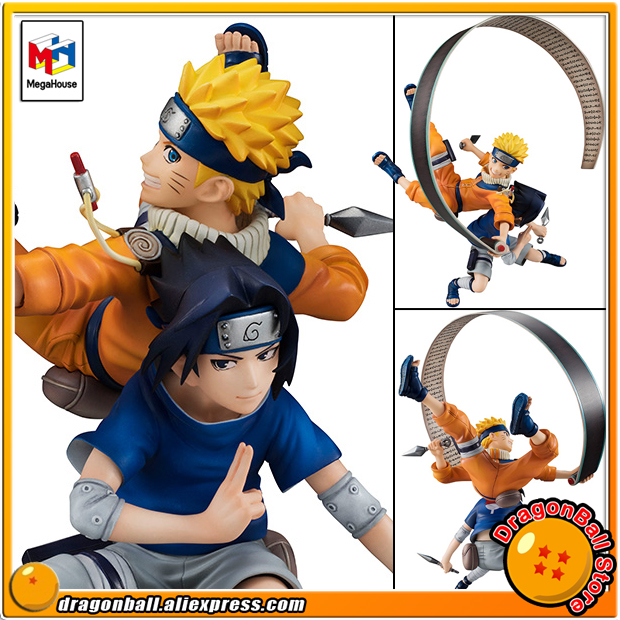 Японии аниме Наруто оригинальные megahouse Gem. Remix полную фигуру-uzumaki Naruto и Саске