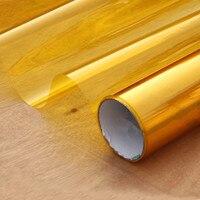 Gold Yellow Decoration Solar Tint Window Film Improve Privacy UV 99% Length: 1000cm(394) Party window Decor