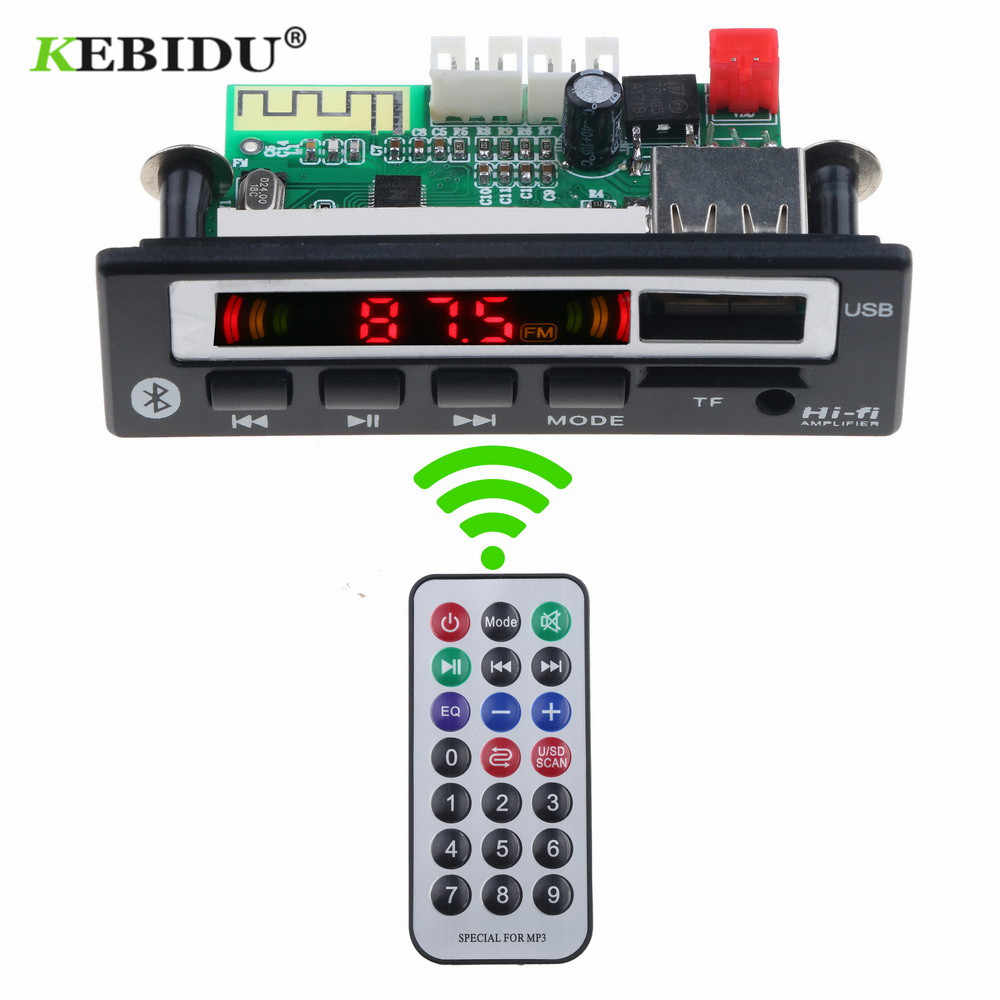 KEBIDU DC 5 V 12 V Bluetooth5.0 MP3 WMA WAV Scheda di Decodifica Modulo Audio Senza Fili Schermo a Colori USB TF di FM radio Per Auto accessori