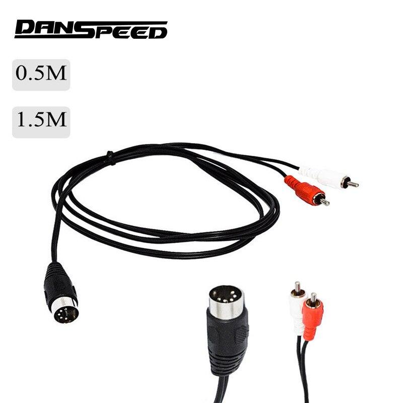 for la voiture RCA vid/éo cam/éra arri/ère m/âle et cam/éra DVR etc Conversion Car Electronics Supplies 5,5M 5 broches 2,5mm Jack Extension Cable