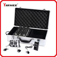 YARMEE 99 channels wireless tour guide system wireless translation system 2 transmitters 30 receivers charger case