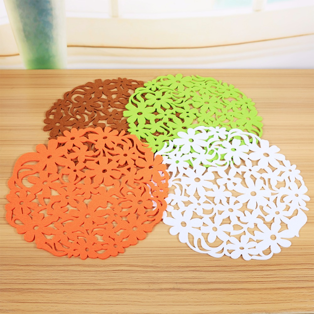 Online Shop 4 Colors Colorful Round Shape Felt Table Placemats Heat  Resistant Home Kitchen Dinner Tablemats New Arrival Hot Selling   Aliexpress Mobile