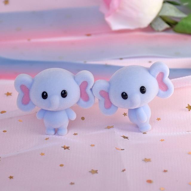 귀여운 모피 코끼리 몰려 들고 인형 완구 kawaii 미니 장식 완구 소녀를위한 작은 절묘한 동물 완구 최고의 크리스마스 선물