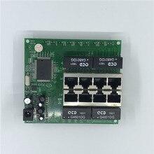 Interruptor Ethernet OEM PBC de 8 puertos Gigabit 8 puertos con cabezal de 8 pines 10/100/1000m Hub 8 vías de potencia pin Pcb tablero OEM agujero de tornillo