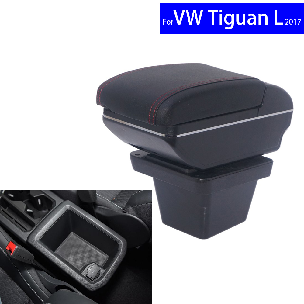 Leather Car Interior Parts Center Console Armrest Box for Volkswagen VW Tiguan L 2017 Armrests with USB