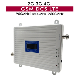 Image 1 - Talk Voice+2G 3G 4G Data Tri Band Signal Repeater GSM 900 DCS 1800 FDD LTE 2600 Mobile Signal Booster Amplifier with LCD Display