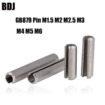 GB879 Pin M1.5 M2 M2.5 M3 M4 M5 M6 304 stainless steel Split elastic cylindrical positioning opening spring cotter 5MM - 20MM image