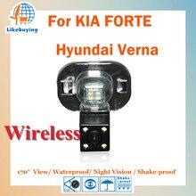 Беспроводная 1/4 цветной CCD HD парковка камера заднего вида для Kia Forte/Hyundai Verna ночного видения/170 градусов