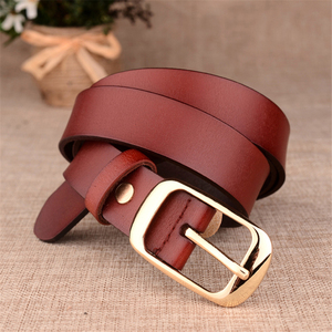 Image 3 - Womens fashion brand strap genuine leather women belt alloy pin buckles vintage belts for womens jeans high quality 10