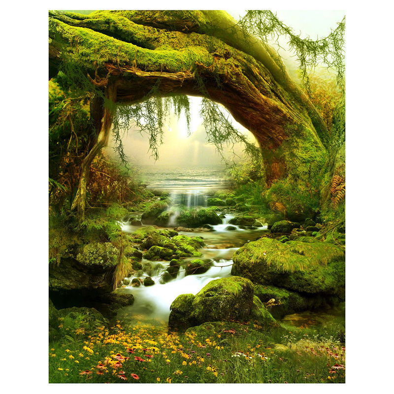 Top Deals 5X7FT Vinyl Backdrop Photography Prop Fairy Tale Scenic Photo Background Photo Studio Accessories vinyl photography background fairy tale