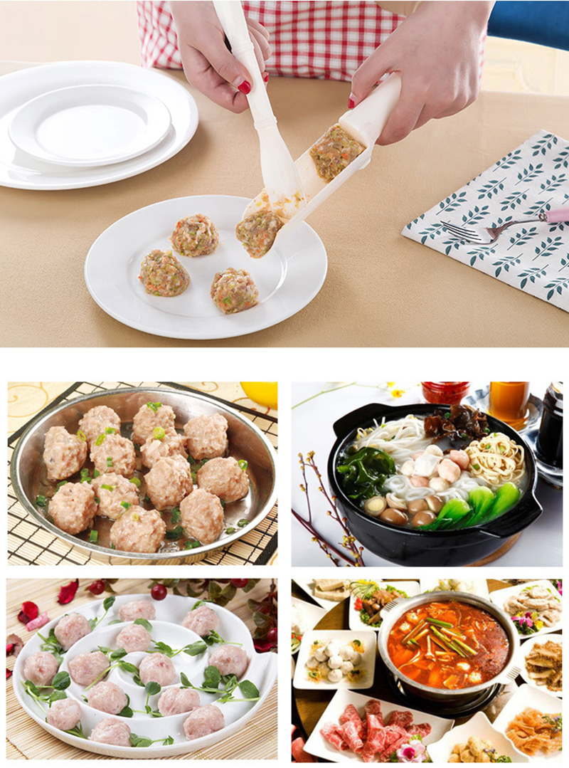 1 set Convenient Meatball Maker Stuffer Home Kitchen Cooking ToolS Useful Pattie Meatball Fishball Burger Set Kitchen Accessorie