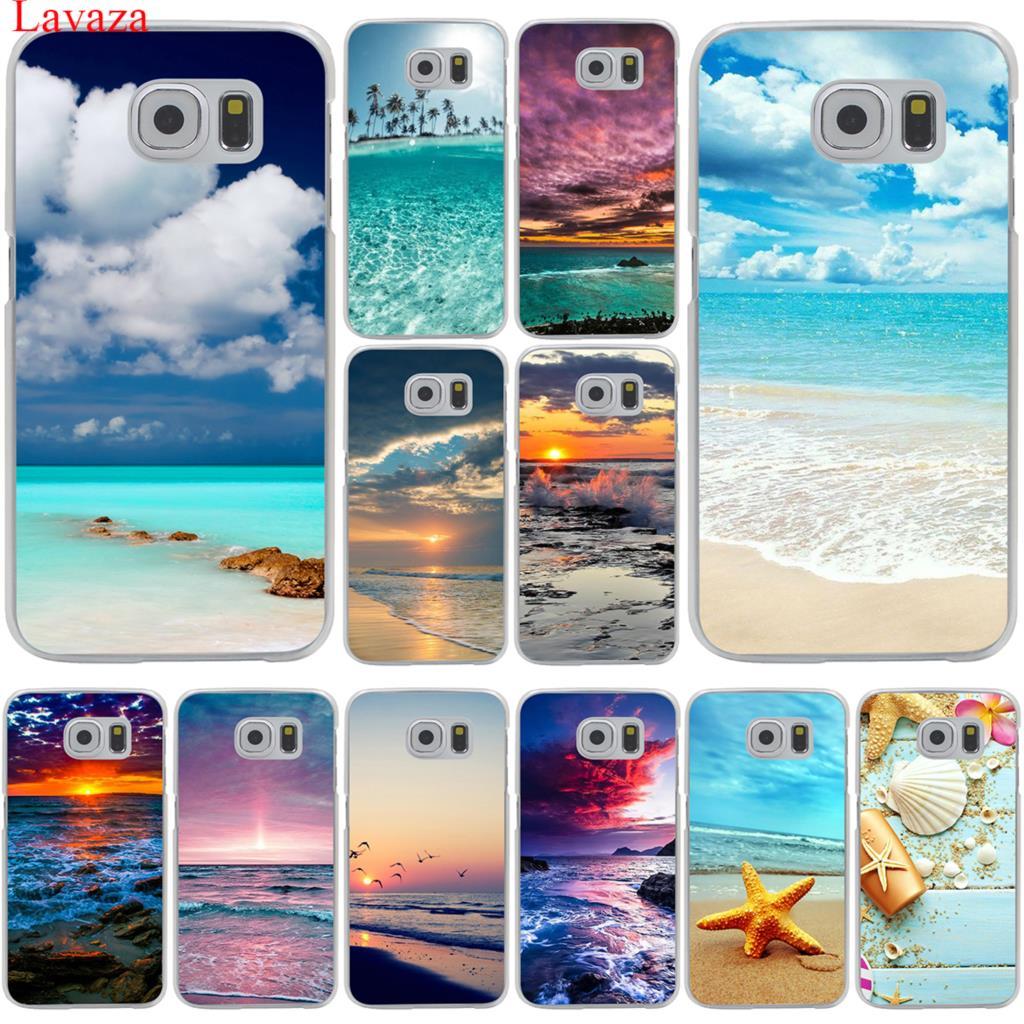 Lavaza Clear Sea Sky Sandstrand Telefonväska för Samsung Galaxy S20 Ultra S10E S10 Lite S6 S7 Edge S8 S9 Plus A51 A71 A81 A91