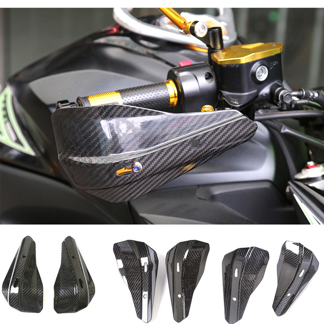 Motorcycle Universal Windshield Hand Cover Modified Hand Guard Motorcycle Universal Carbon Fiber Handlebar Hand Guards Handguard все цены