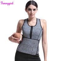 Neoprene Sauna Vest Body Shaper Slimming Waist Trainer Hot Shaper Fashion Workout Shapewear Adjustable Sweat Belt