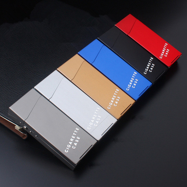 Lady Cigarette Case Aluminum Cigar Box Tobacco Holder For Women Metal Pocket Storage Container Slim Smoking Cigarette Accessorie