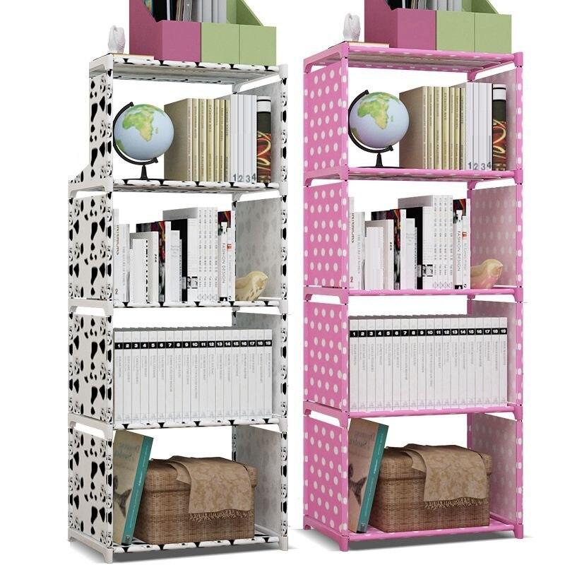 Accueil déco rangement étagère Non tissé tissu plancher Rack ménage bibliothèque support organisateur multi couche Simple assemblage étagère-in Égouttoirs et supports from Maison & Animalerie    1