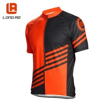 LONGAO hombres Ciclismo Bike team jersey tops/bicicleta ropa del estilo del verano de manga corta/Bicicleta Jersey Sportwear ciclismo XS-5XL