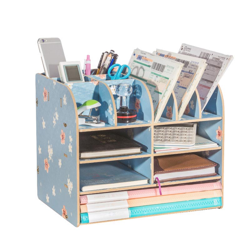 Paper Storage Trays Desk Organizer Tray Desktop Magazine Holder Book Display Stand School Office Desk Accessories