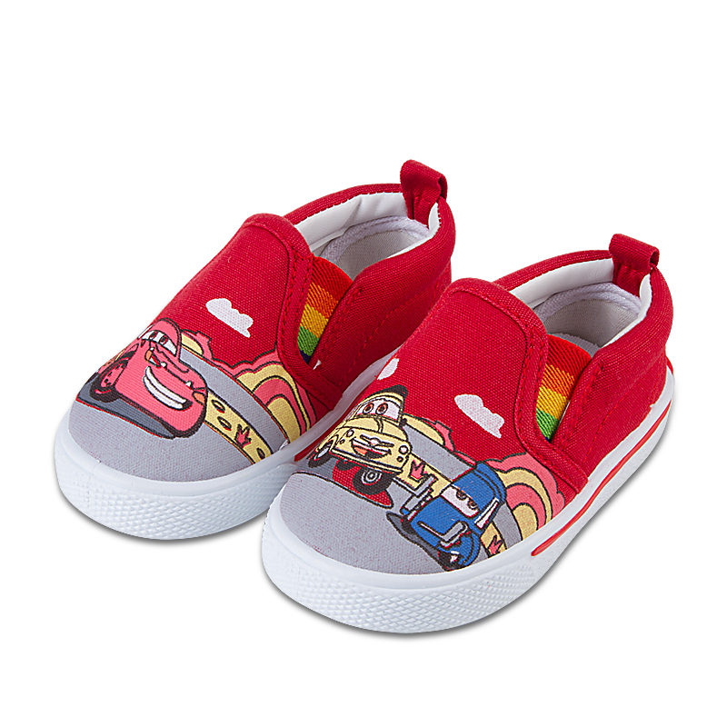 car print canvas boys shoes for loafers slip
