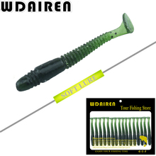WDAIREN 16Pcs/Lot 5cm/1g Lures Soft Bait Worms fishing lure with salt smell Hot Fishing Takcle Grub Artificial Lures WD-257