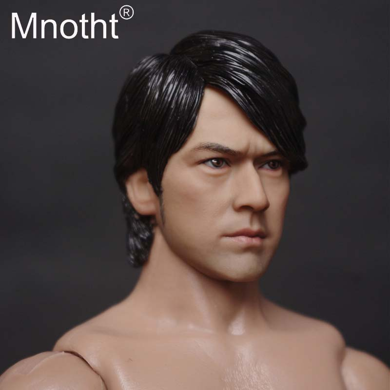 """1//6 Takeshi Kaneshiro Head Sculpt Head Carving For 12/"""" Action Figure Model  Body"""