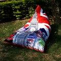 Оптовая продажа 123 X 115 X 90 см кресло мешок фасоли диван обложки съемные и эйфелева башня бесплатная доставка