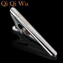 TJ-009 Personalized Custom Silver Tie Clip New Fashion Tone Metal Mens Necktie Clips Bar  Pin Clasp Jewelry Hot Sales