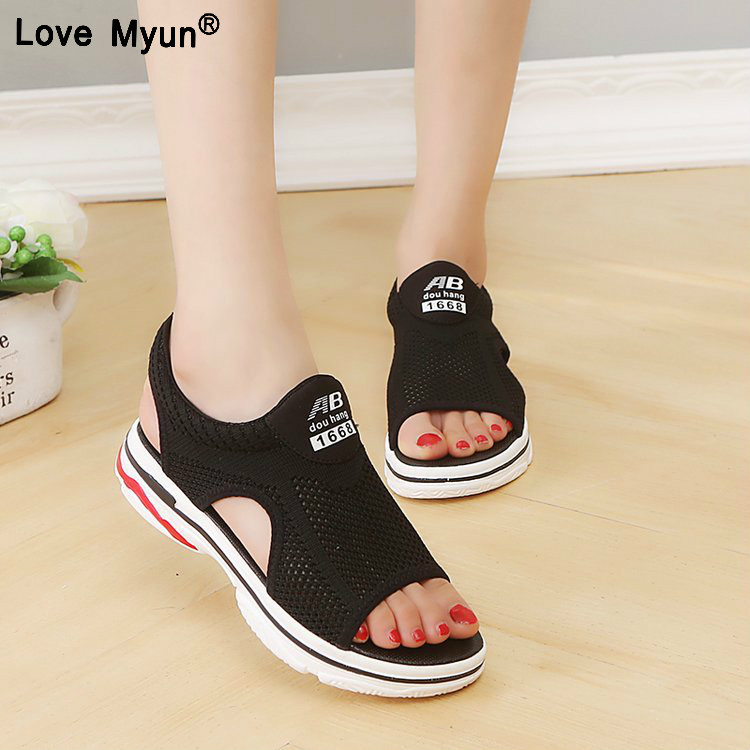women sandals for 2018 summer new platform sandal shoes breathable comfort shopping ladies walking shoes white black women creepers shoes 2015 summer breathable white gauze hollow platform shoes women fashion sandals x525 50