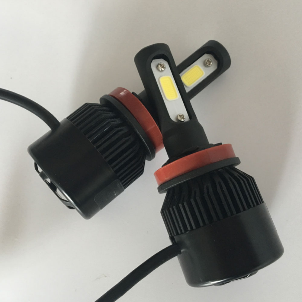 2PCS Kereta Cahaya H8 H9 H11 LED Lampu 72W 8000LM Depan Depan Lampu - Lampu kereta - Foto 6