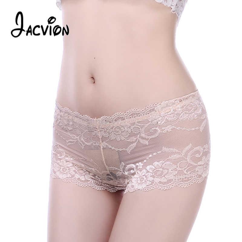 21fd0f0e718 Women Panties Seamless Transparent Boyshort Female Sexy Lace Underwear Plus  Size 4XL Low-Rise Women