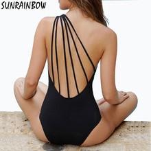 SUNRAINBOW 2017 New Arrival Sexy One Piece Swimsuit Retro Swimwear Women Vintage Beachwear Bathing Suits Monokini Suits Swim XL