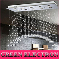JH L31 5 X W12 X H31 5 Arched Clear K9 Rectangle Crystal Modern Crystal Ceiling