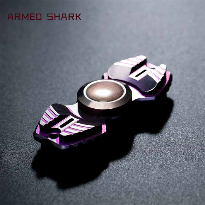 DIY война Акула Armour Warrior двухлистный Спиннер из титанового сплава медный Спиннер EDC взрослая антистрессовая детская забавная игрушка