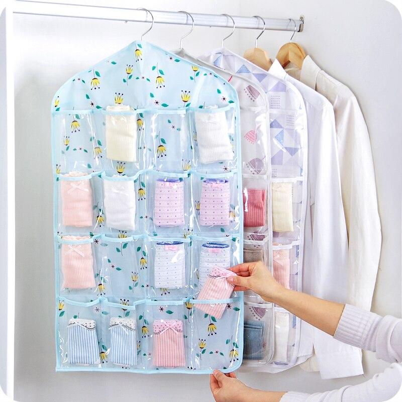 2018 nuevos 16 Bolsillos Calcetines Calzado de Juguete Ropa Interior - Organización y almacenamiento en la casa