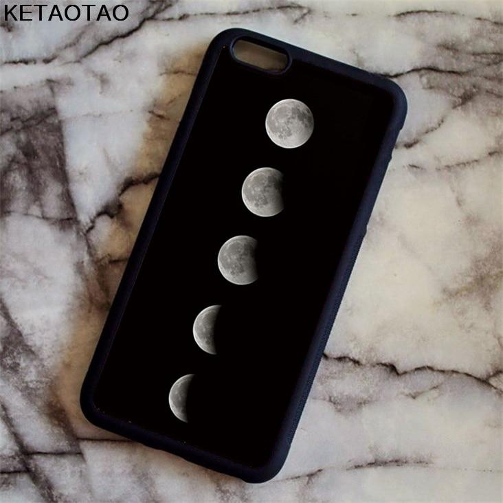 KETAOTAO Dello Spazio della Luna Foto Phone Cases for iPhone 4S 5S 6 6S 7 8 X PLUS for Samsung S8 Case Soft TPU Rubber Silicone