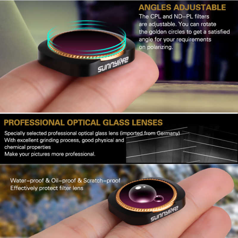 JACKY-STORE MCUV Camera Professional Optical Glass Lens Filters For DJI OSMO POCKET