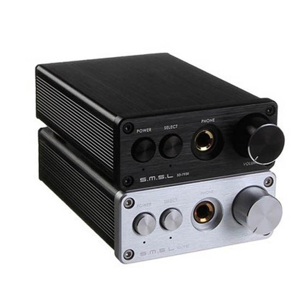 SMSL SD-793II DIR9001+PCM1793+OPA2134 24bit/96khz Coaxial/Optical DAC Amp Aluminum Enclosure Black/Sliver 3206 amplifier aluminum rounded chassis preamplifier dac amp case decoder tube amp enclosure box 320 76 250mm