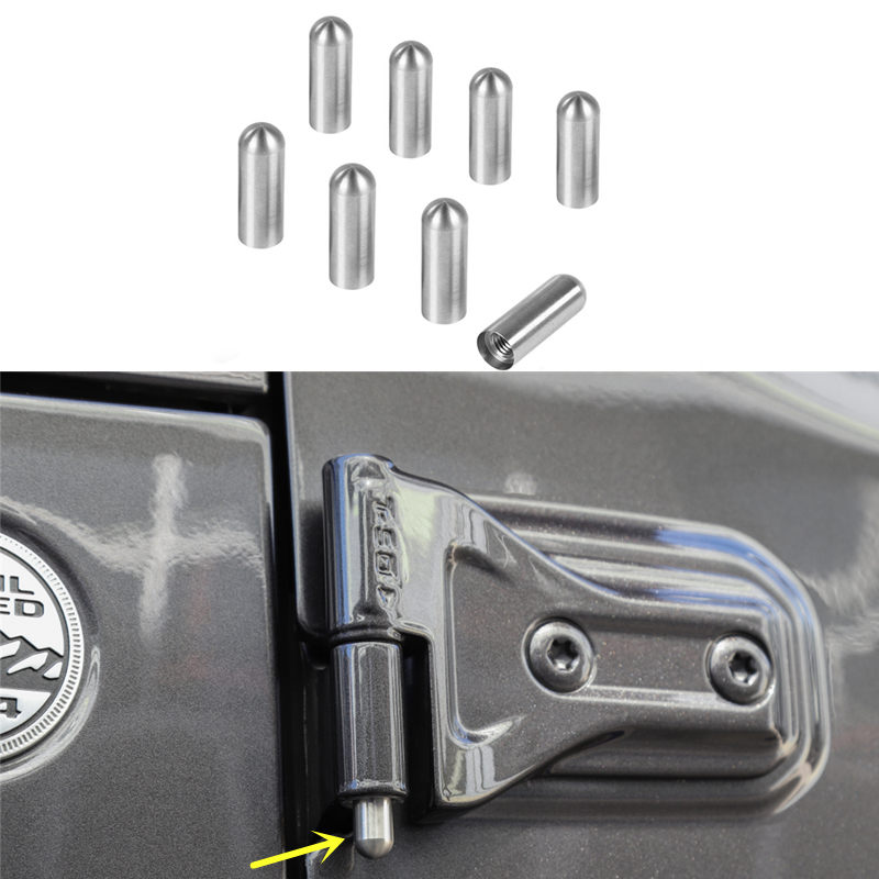 Exterior Door Panels & Frames Back To Search Resultsautomobiles & Motorcycles 2doors/4doors Pin Guides Protective Hinge Scratches Anti-rust Hinge Fit For Jeep Wrangler Tj Jk Jl 2007-2018 Exterior Styling