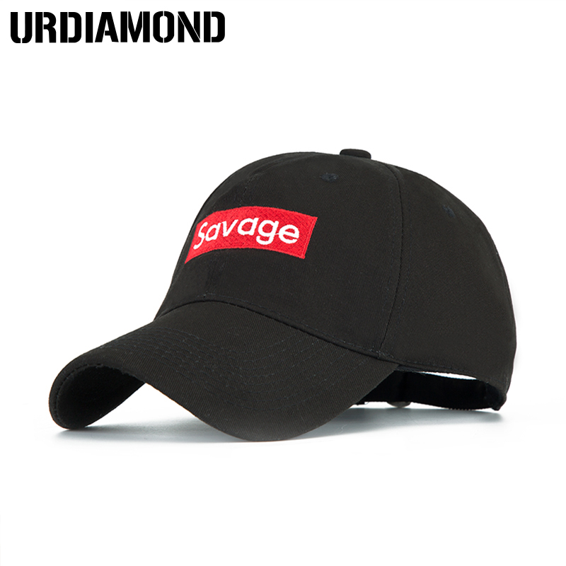 URDIAMOND 2018 Savage Baseball Cap For Men Women Embroidery Hat Cotton Bone Women Snapback Caps Hip Hop Sun Fashion Style Caps