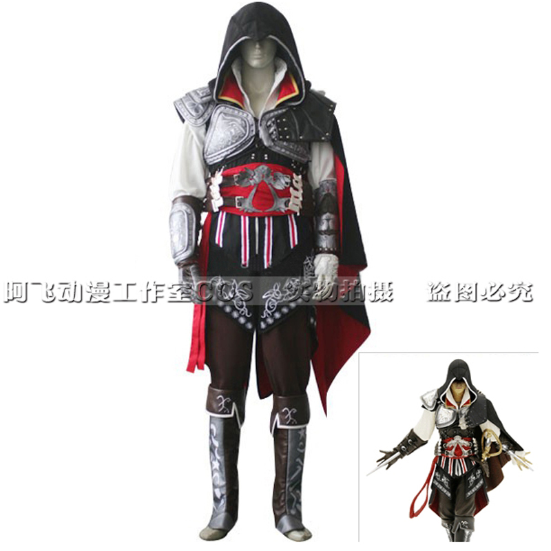Hot Adult Kids Assassins Creed Ezio Cosplay Costume Cool Halloween Costumes For Adult Kids Women Men Accessories Suit Customized Costume Dance Costumes Hawaiicosplay