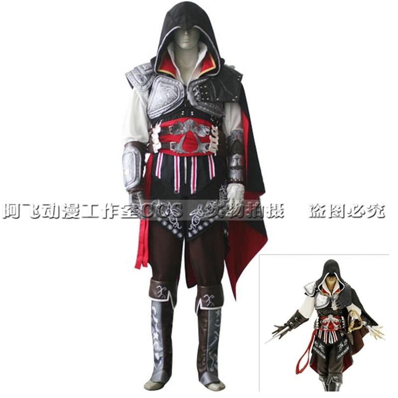 Hot Adult Kids Assassins Creed Ezio Cosplay Costume Cool Halloween Costumes For Adult Kids Women Men Accessories Suit Customized Costume Dance Costumes Hawaiicosplay