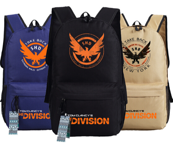 Men Gos Clanc The Division Collector's Edition Go Backpack Bag School Shoulder Travel Bag