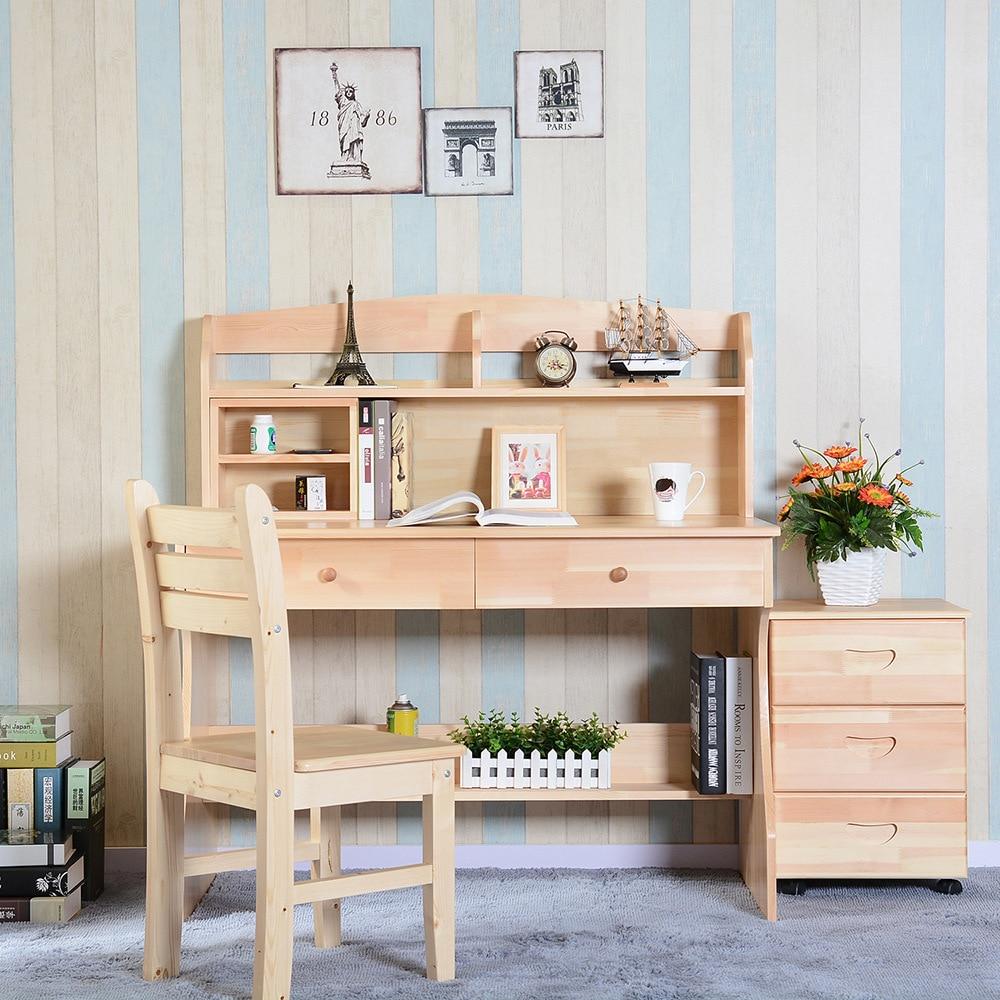 children furniture sets kids furniture pine solid wood desk bookcase chair cabinet sets 4 pieces sets kids study table sets hot