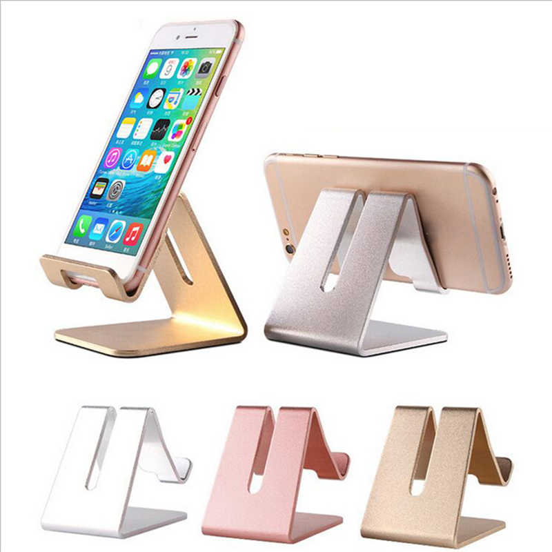 4 cores De Liga De Alumínio Universal Cell Phone Tablet PC Desk Mount Holder Metal Dobrável Suporte Móvel para o iphone samsung J30